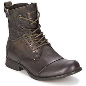 """Bunker """"Tara"""" Brown Leather Boots - Men's Size 8"""